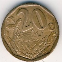 South Africa 20 cents 2007