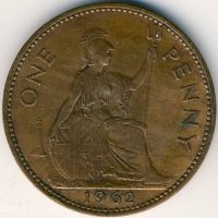 United Kingdom 1 penny 1962