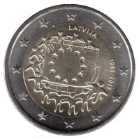 Latvia 2 Euro 2015 - 30 years of the flag of Europe