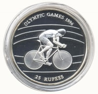 Seychelles 25 rupees 1995 Olympic games in Atlanta. Cycling