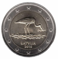 Latvia 2 Euro 2015 - Black stork