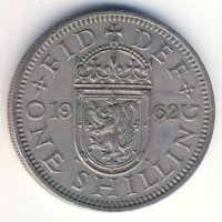 Great Britain 1 shilling 1962 - Scottish coat of arms