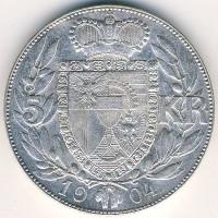 Лихтенштейн 5 крон 1904 год