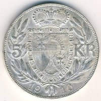 Лихтенштейн 5 крон 1910 год