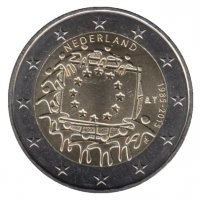 Netherlands 2 Euro 2015 - 30 years of the flag of Europe