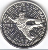 Belarus 1 rouble 2013 - world Cup 2014. Brazil