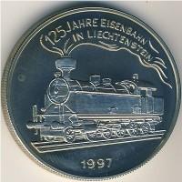Лихтенштейн 5 евро 1997 год
