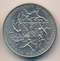 New Zealand 1 dollar 1974 - X British Commonwealth Games
