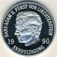 Лихтенштейн 100 франков 1990 год