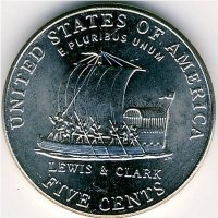 USA 5 cents 2004 - Boat (D)