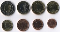 Set of 8 Euro coins of the Netherlands 2003