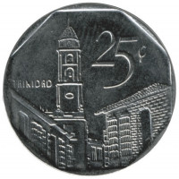 Cuba 25 centavos 2008 - St. Francis of Assisi Church in Trinidad