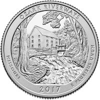 USA 25 cents 2017 - National waterways Ozark (D)