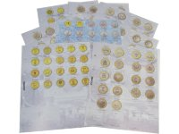 A set of 8 divider sheets for 10-ruble coins of Russia and set