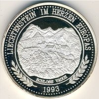Лихтенштейн 20 экю 1993 год