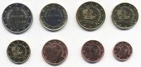 Set of 8 Euro coins of Cyprus 2008
