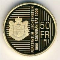 Лихтенштейн 50 франков 2006 год