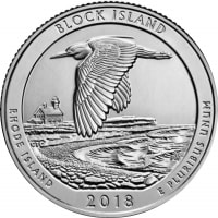 USA 25 cents in 2018, the National wildlife refuge island Unit (D)