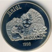 Лихтенштейн 5 евро 1998 год