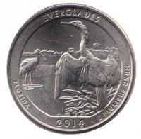 USA 25 cents in 2014 - Everglades national Park (P)