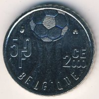 Belgium 50 francs 2000 - championship of Europe on football BELGIQUE
