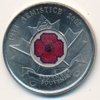 Canada 25 cents 2008 - 90 years since the end of the First world war