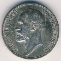Лихтенштейн 2 кроны 1912 год