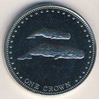 Tristan da Cunha 1 crown 2008 - the sperm whale
