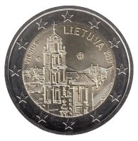 Lithuania 2 Euro 2017 - Vilnius. The Church Of St. John