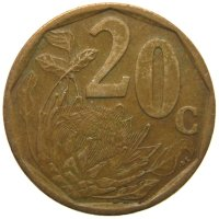 South Africa 20 cents 1999
