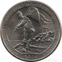 USA 25 cents in 2016 - national Park Fort Moultrie (D)