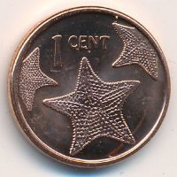 Bahamas 1 cent in 2015 - starfish