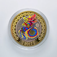 Engraved coin 10 rubles in 2016 - Fire cock (1)