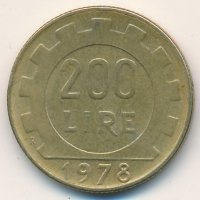 Italy 200 lire 1978 - Female
