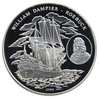 Togo 1000 francs 2004 - William Dampier the HMS Roebuck and