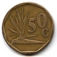 South Africa 50 cents 1992