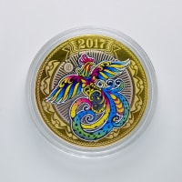 Engraved coin 10 rubles in 2016 - Fire cock (4)