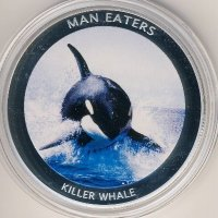 Uganda 100 shillings 2010 - Animals-cannibals. Orca