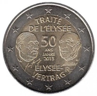 France 2 euros 2013 - 50 years of the signing of the elysée Treaty