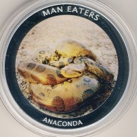 Uganda 100 shillings 2010 - Animals-cannibals. Anaconda