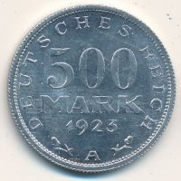 The Weimar Republic 500 marks 1923 (A)