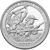 USA 25 cents 2017 - national Park George Rogers Clark (D)