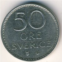Sweden 50 öre 1973 - King Gustav VI Adolf