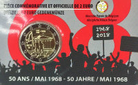 Belgium 2 Euro 2018 - 50 years of student unrest in may 1968