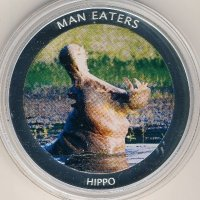 Uganda 100 shillings 2010 - Animals-cannibals. The Hippopotamus (Hippo)