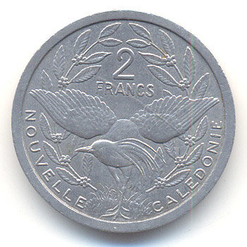 New Caledonia 2 francs 1982