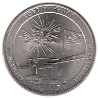 USA 25 cent 2013 - Fort McHenry (P)