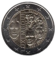 Luxembourg 2 Euro 2015 - 125 years of the dynasty of Nassau-Weilburg