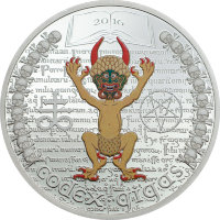 Equatorial Guinea 1000 francs 2016 - the Codex Gigas. Devil's Bible