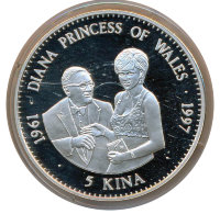 Papua New Guinea 5 kin 1997 - Diana, Princess of Wales